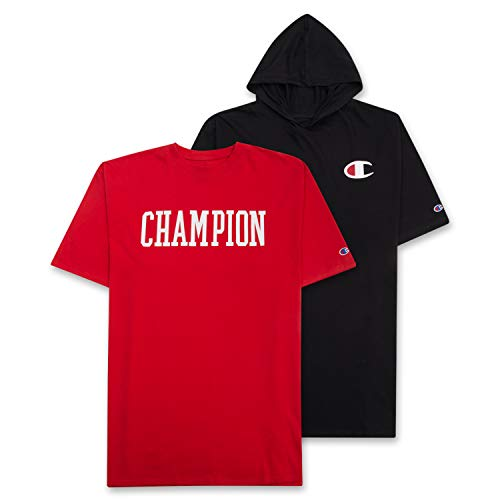 red and black champion hoodie - 5