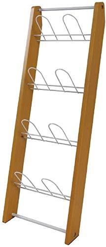 JXXDDQ Shoe rack Vägghängande trä hem flera lager kreativ platsbesparande användning mot väggen utrymmesbesparande skoställ (färg: Gul)