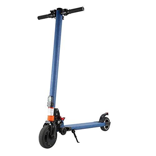 J&Z Scooter électrique Pliable pour Adultes légers Scooters électriques, Le Haut Vitesse: 20 km/h Charge maximale 100 kg LCD pour l'extérieur, 30~40KM,Bleu
