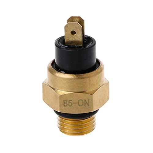 MULANG MULANGSTOR Ajuste del Ventilador del radiador de Temperatura de 85 Grados para Las Piezas del Motor Sensor de Agua 2/4 Stroke M14 x 1.5 2 Pines