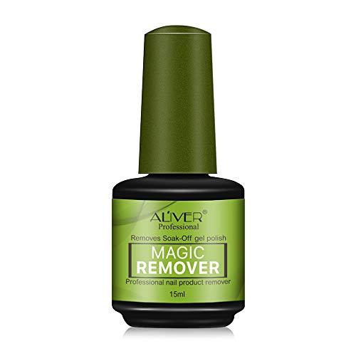 ALIVER Magic Soak-Off Gel Nagellackentferner, Professional Remover Nagellack Delete Primer Acryl Clean Entfetter für Nail Art Lack 15ml
