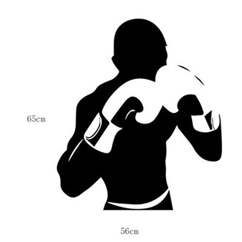 KMCC Boxhandschuhe Abnehmbare Boxhandschuhe/Mike Tyson Wandtattoo Sportboxen Aufkleber Wohnheim Club Boxer Fans Dekor Room Interior Art Wandbild