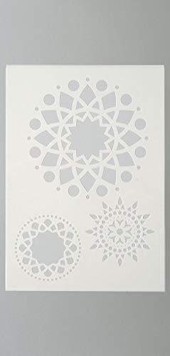efco Mandala Schablone in 3Designs, Kunststoff, transparent, A4