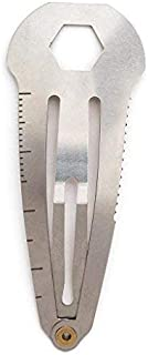 Mini Multitool Clip - Multi-Functional Tool Hair Clip Works As A Screw Driver, Wrench, Ruler, and Serrated Knife, Original