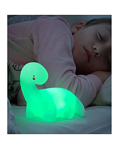 InnovaGoods Lámpara Dinosaurio LED Multicolor Lightosaurus, Blanco ⭐
