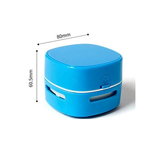 GYZB-KPQER JGB-CZXCQ handstaubsauger, Desktop-Staubsauger, Akkubetrieb, bewegliche drahtlose Minitisch Crumb Staub Kehrmaschine, Energiesparen (Color : Blue)
