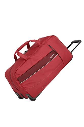 travelite Weichgepäck Reisetasche mit Rollen, Gepäck Serie KITE: Extrem leichte Trolley Reisetasche im sportlichen Design, 089901-10, 64 cm, 68 Liter, rot