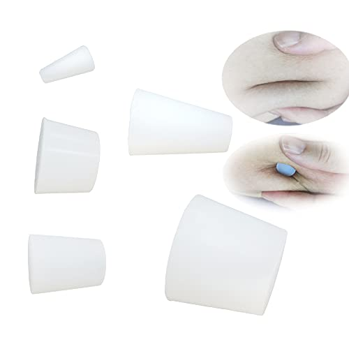 Soft Belly Button Plug Post Tummy Tuck(5PCS Different Sizes) Belly Button Marble Effect White