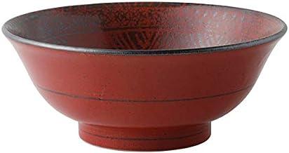 Minorutouki Mishima vermilion 6.8 cun hill bowl red ƒÓ21.2~8.3cm mino ware f8.48×H3.32in 25.75oz
