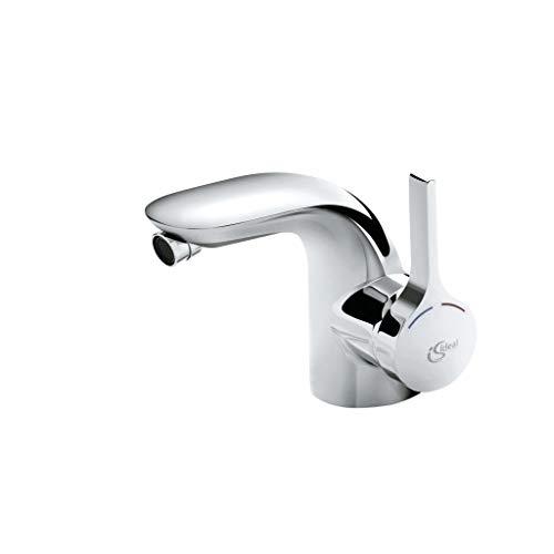 Ideal Standard A4268AA Bidet Armatur Melange verchromt mit Ablaufgarnitur