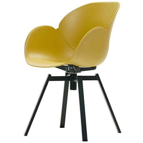Tabouret en Plastique PP Dossier avec accoudoirs 360 degrés Libre Rotation Chaise pour Salon pivotant LI Jing Shop