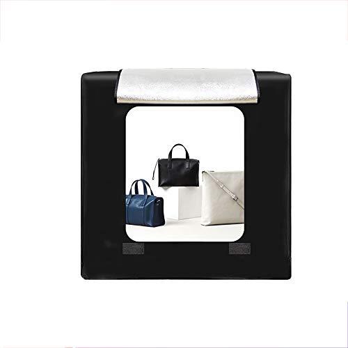 EET Mobile Fotostudio, faltbar Fotografie Studio Light Box Schießen Tent Kit mit 3 Hintergrundpapiere und Helligkeit Dimmer für Fotografie (80 cm)
