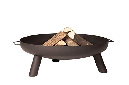 4elementi Feuerstelle, 85 x 30 cm Fireplace, Corfu Firepit Grill Outdoor BBQ Feuerstelle für Garten und Terrasse, 3 Beine