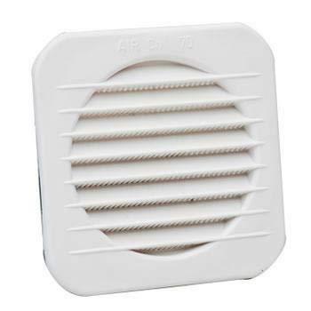 Rejilla de ventilación de plástico cuadrada empotrable circular 22 x 22 cm...