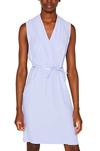 ESPRIT Collection Damen 069EO1E017 Kleid, 425/BLUE Lavender, (Herstellergröße: 44)