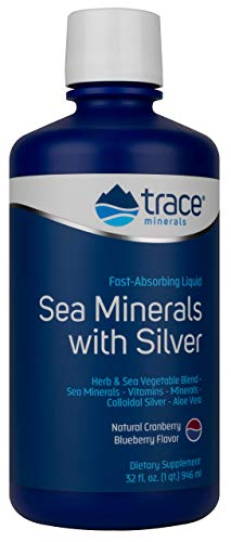 Trace Minerals Research SMS01 - Liqumins Sea Minerals with Silver, 32 fl. Ounce