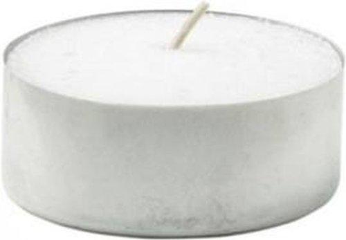 Candele tea light, durata 10 ore, in paraffina, formato maxi, 48 pezzi