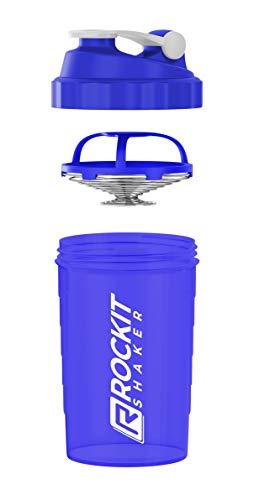 Rockitz Rockit Shaker   Inhoud: 750 ml   100% lekvrij   Uniek mengsysteem met veer van roestvrij staal   Met infusiezeef   BPA-vrij