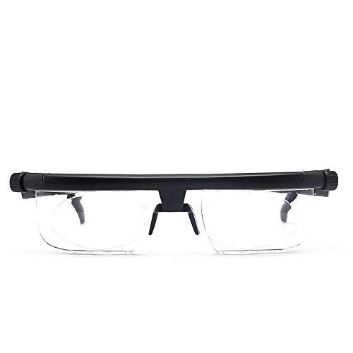 ZUZU Fokus Einstellbare Lesebrille Myopiebrille -6D bis + 5D Dioptrien Vergrößerung Variable Stärke