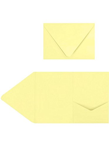5x7 A7 Pocket Invitations - Lemonade - Yellow Envelopes - Pack of 20