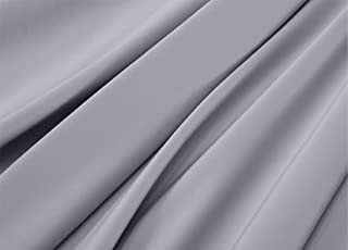 R.T. Home - エジプト高級超長綿ホテル品質 ボックスシーツ ワイドキング 200×200×45CM (シングル二台)サイズ 500スレッドカウント サテン織り シルバー グレー(ボックス シーツ 200*200*45CM)