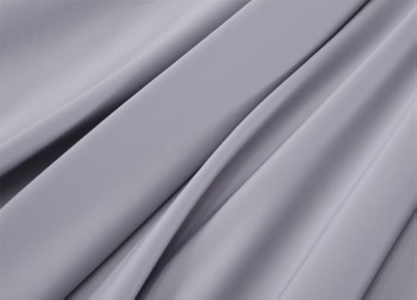 スカート実施する監督するR.T. Home - エジプト高級超長綿ホテル品質 ボックスシーツ シングル サイズ(シングル ボックスシーツ) 500スレッドカウント サテン織り シルバー グレー(ボックス シーツ シングル 100*200*45CM)