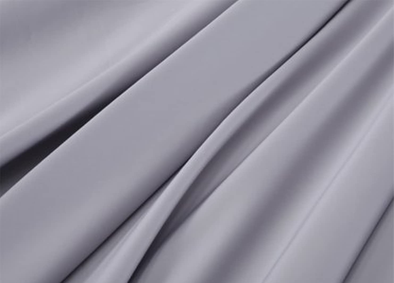 皮刺します学んだR.T. Home - エジプト高級超長綿ホテル品質ダブル ロング サイズ190x210 掛け布団カバー 500スレッドカウント サテン織り シルバー グレー 190*210CM