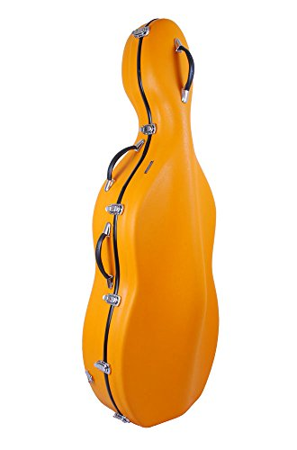 Custodia per violoncello 4/4 Fiberglass colore arancione TONARELI VCF3012 - VENDITORE AUTORIZZATO