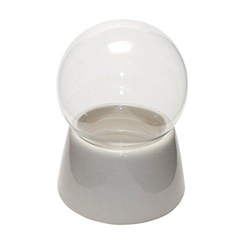40019 - 80mm Do it yourself Schneekugel mit Glaskugel und Porzellansockel