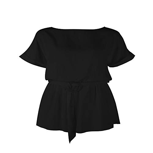 Korte mouw Effen Playsuits o Nek Zomer Streetwear Casual Bodysuits Vrouwen Rompers Vrouw 2019 overvalls Jumpsuits
