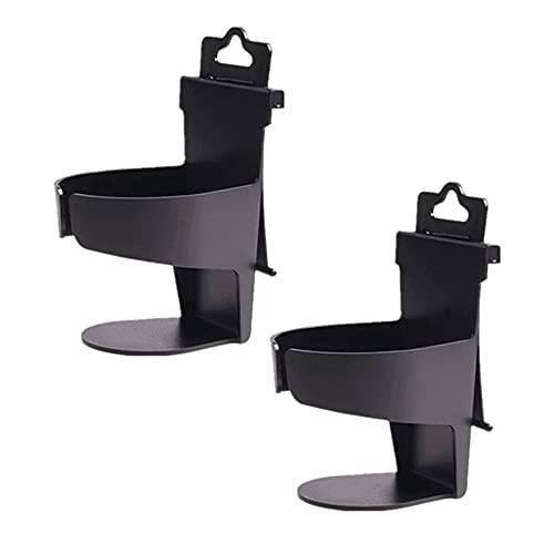 Swetup 2 soportes para bebidas de coche, plegables, soporte para latas de coche, soporte universal para vasos para diferentes tamaños de botellas de agua, tazas de café, tazas térmicas