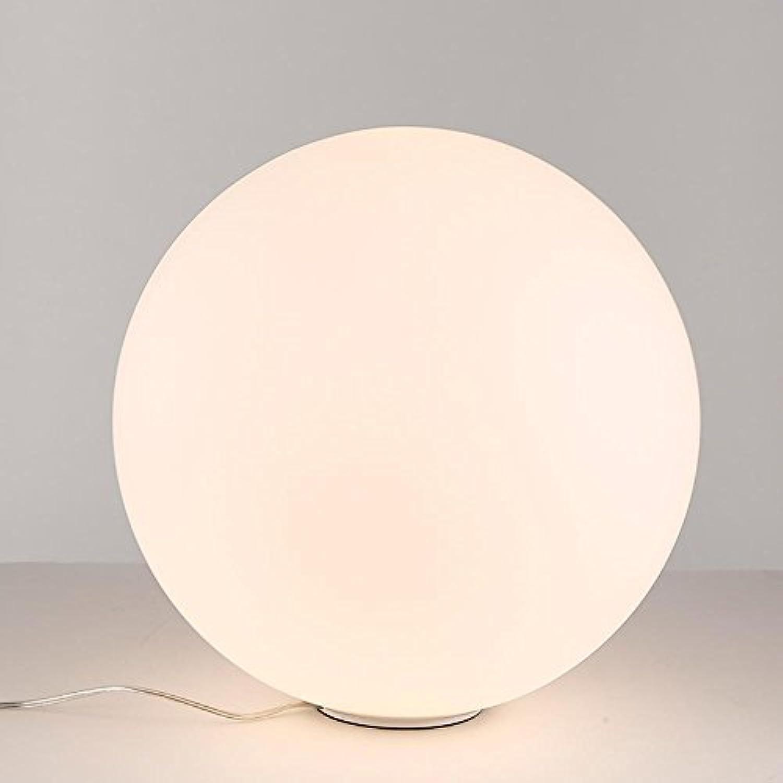 DENG Tischlampe, Schlafzimmer, Nachttischlampe, einfach, stilvoll, Glaskugellampe, Wohnzimmer, Arbeitszimmer, Leselampe, dekoratives Licht (Knopfschalter), 25cm