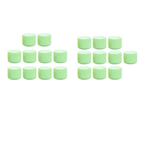 Sharplace 10 pièces Pot Vide Cosmétique en Plastique Bocaux Stockage de Crèmes Échantillon Vide 20g + 50g