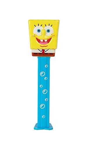 PEZ SpongeBob Squarepants Bubbles Candy Dispenser - Spongebob Squarepants Pez Dispenser with 2 Candy Refills