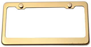 LFPartS Stainless Steel License Plate Frame (Gold)