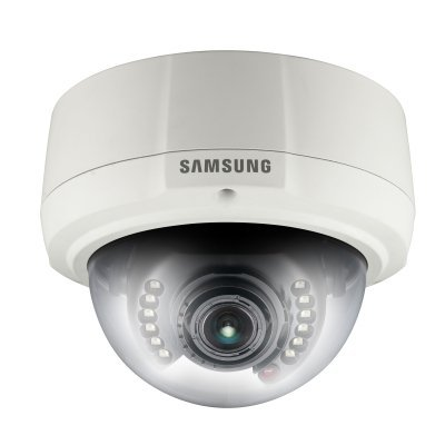 SS178–Samsung snv-1080rp Vandal Resistente VGA externo red IR varifocal 2.2–7,7mm Domo CCTV Cámara PoE