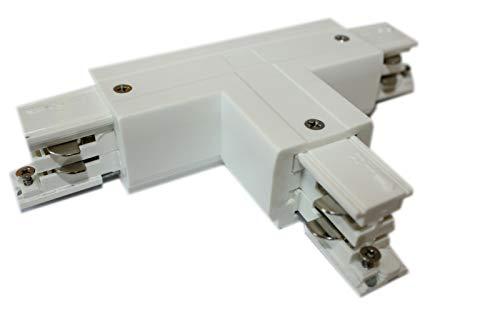 Rail d'alimentation triphasé - Connecteur en T gauche - 1 Powergear - Noir et blanc