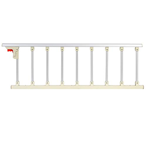 LYFHL Barandilla de Seguridad Seguridad Plegable para Adultos Mayores Riel de Cama Guardia Ayuda Barra de Agarre Agarre de Metal (Color : Aluminum Alloy, Size : 136×130×40cm)