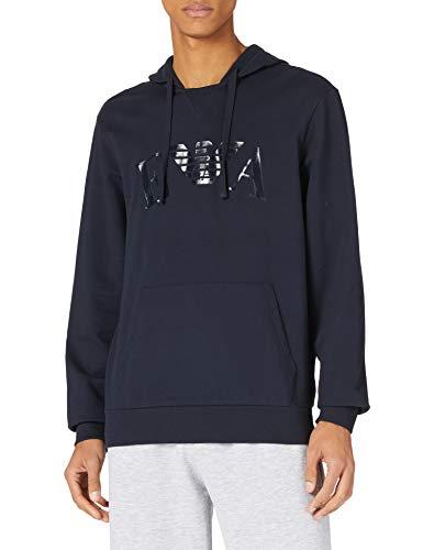 Emporio Armani Underwear Sweater Iconic Terry Felpa con Cappuccio, Blu Marino, M Uomo