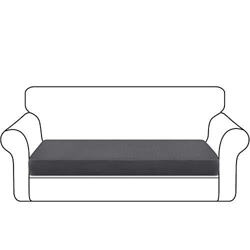 Granbest Dick Sofa Sitzkissenbezug High Stretch Sitzkissenschutz für Sofa rutschfest Möbelschutz (3 Sitzer, Grau)