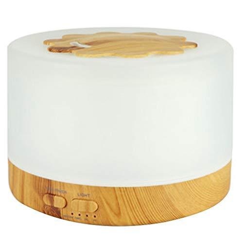 Allamp 500 ml Humidificador de Aire ultrasónico LED Luz de Grano de Madera Esencial Difusor de Aceite Aromaterapia Mist Maker UK Enchufe