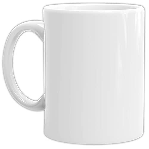 Tassendruck Bastel-Tassen ohne Druck zum Bemalen aus Hochwertiger Keramik Einzeln oder im Set/Mug/Cup/Becher/Pott - 1 Stück Weiss