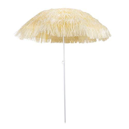 HI Hawaii Schirm Sonnenschirm Strandschirm Gartenschirm Balkonschirm 180 cm Beige