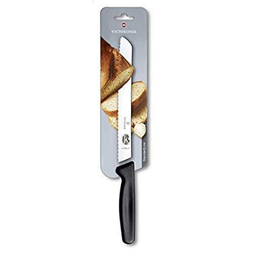 Victorinox Brotmesser, mit Kunststoff Griff, Wellenschliff, 21cm Klingenlänge, Swiss Made