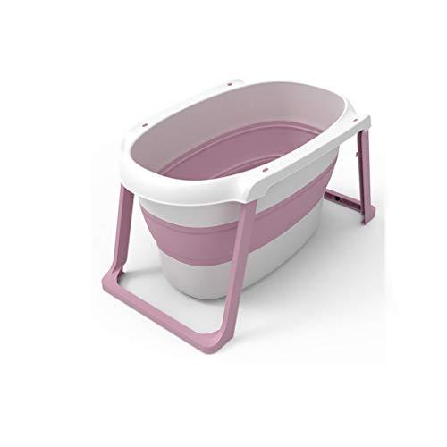Badkuip voor baby's, zwem- en douchemmer, meerdere badkuipen van kunststof, opvouwbaar, voor douchebak voor huisdieren, grote wastafel 107 x 63,5 x 50 cm 107 * 63.5 * 50CM Roze