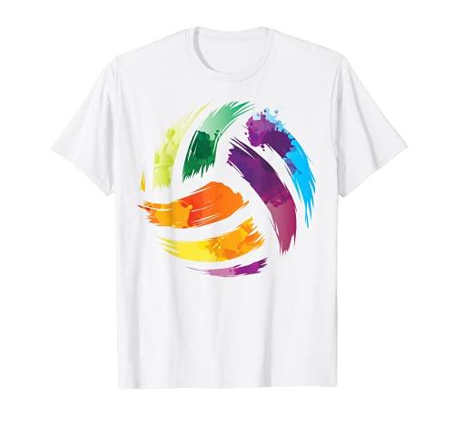 VOLLEYBALL T-Shirt | Motiv Colorsplash-T-Shirt