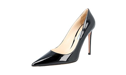 Prada Women's 1I939F 069 F0002 Black Leather Pumps/Heels US 10.5 / EU 40.5