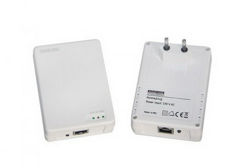 König CMP-HOMEPL201 Homeplug - Adaptador de Red Powerline (200 Mbit/s, RJ-45, 300m)