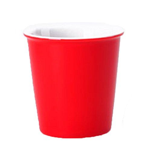 Tasses Mugs et soucoupes Tasses à Expresso Cup gobelet 4 Pack 8 oz Couple Mug Couleur Unie Coupe en céramique Simple Mode Coupe Distorsion Anti-Hot Porcelaine Cup (Color : Red)