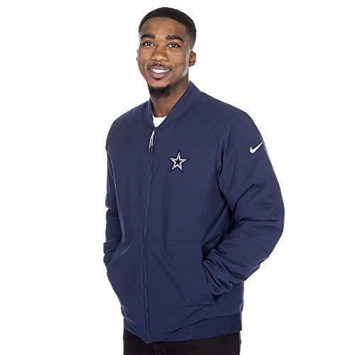 Dallas Cowboys NFL Herren Nike Bomberjacke, Herren, Nike Bomber Jacket, Navy, X-Large